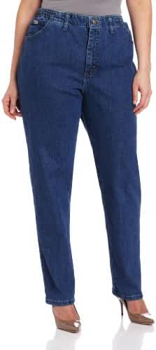 LEE Women's Plus-Size Relaxed-Fit Elastic-Waist Jean