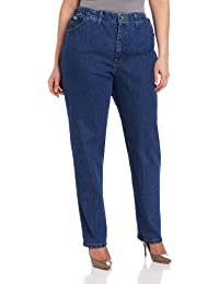 Women's Plus Size Relaxed-fit Elastic-Waist Jean