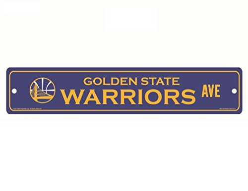WinCraft NBA Golden State Warriors Full Color Street Sign, 3.75 x 19 Blue