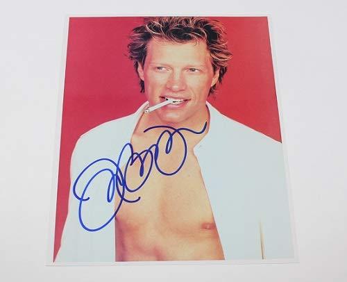 Jon Bon Jovi Crush It's My Life Signed Autographed 8x10 Glossy Photo Loa