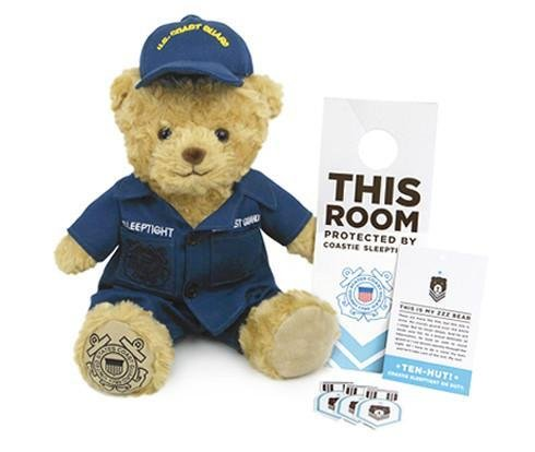 ZZZ Bears Coastie Sleeptight Coast Guard Teddy Bear and Military Grade Sleep System