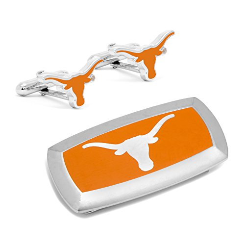 Set Gift and Clip Cushion Cufflinks Texas University of Longhorns Money wqU1zn8