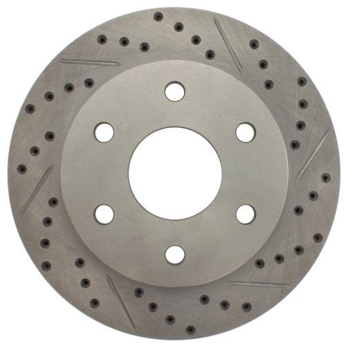 Front Rotor Slotted Stoptech (StopTech 227.66040L Select Sport Drilled and Slotted Brake Rotor; Front Left)