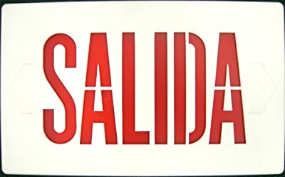 Morris Products 73046 Combo Salida Face Plate Red Letters White Face