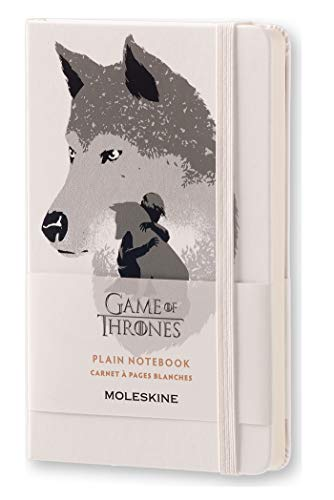 Moleskine Limited Edition Game of Thrones Notebook, Hard Cover, Pocket (3.5 x 5.5) Plain/Blank, White