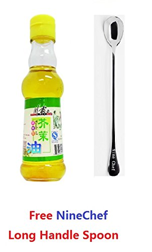(Spicy King (Chuan Ba Wang) wasabi Oil 150ml (Pack of 1) + One NineChef Spoon)