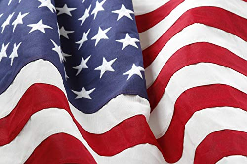 Deneve American Flag, 4x6 Ft. American Made US Flag, Made in Midwest USA, Embroidered Stars, Sewn Stripes, Brass Grommets