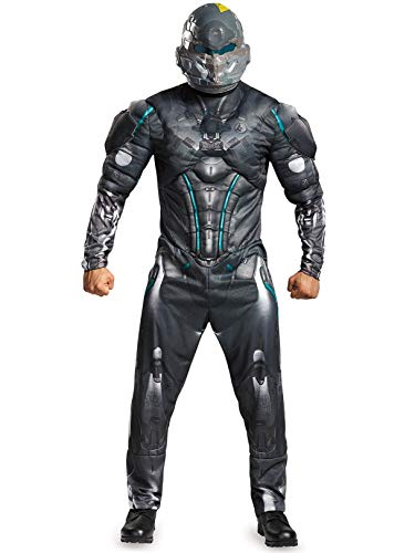 Disguise Men's Halo Spartan Locke Muscle Costume, Black, Medium