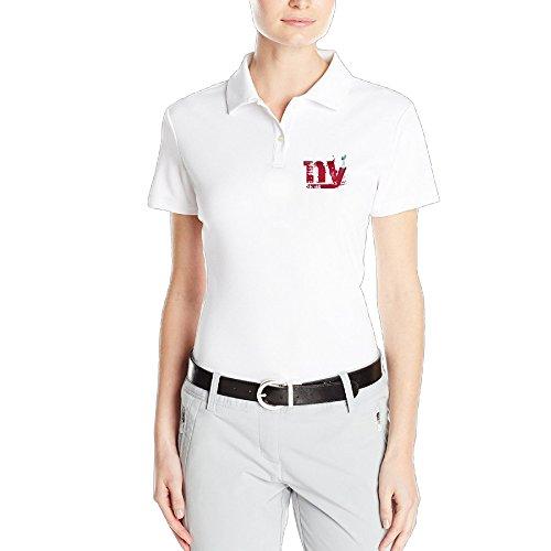 MEGGE Women's New Giants York Sport POLO Shirt