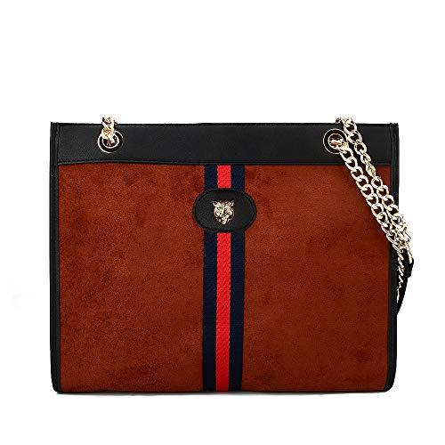Beatfull Designer Bee Soft Tote Handbag for Women, Fashion Tiger Top Handle Bag Shopping Shoulder bag Tote Set Purse (brown-tiger) ()