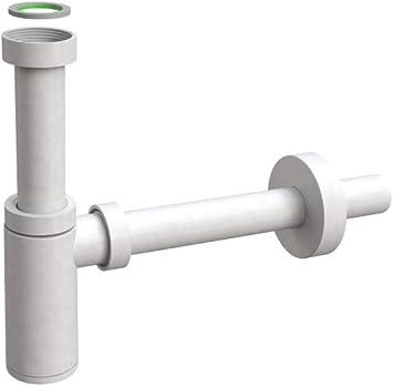 runder Flaschensifon Siphon Ablauf Abfluss Geruchsverschluss für Waschbecken