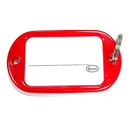 Bulk Hardware bh04021 Llavero Etiqueta tamaño Grande - Rojo ...