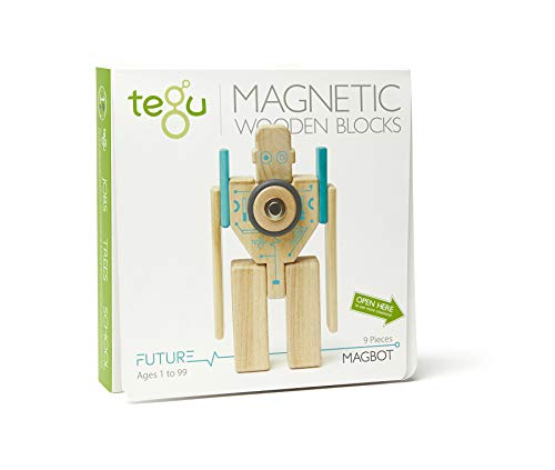 Tegu Magbot Magnetic Wooden Block Set