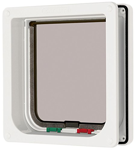 Cat Mate 4 Way Locking Cat Flap with Door Liner White 41dtObxbZ1L