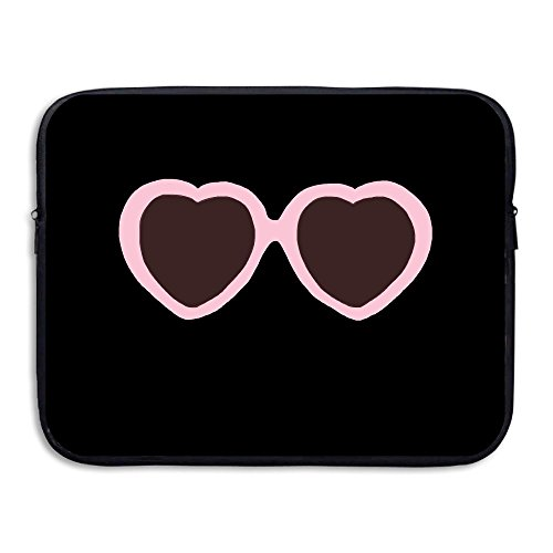 Laptop Sleeve Case Protective Bag Sunglasses Heart Pink Printed Ultrabook Briefcase Sleeve Bags Cover For 15 Inch Macbook Pro/Notebook/Acer/Asus/Lenovo - India Case Sunglasses Online