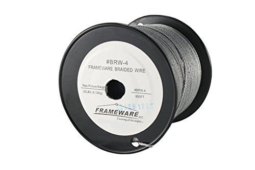 Frameware BRW4 - #4 Braided Picture Wire - 850 feet