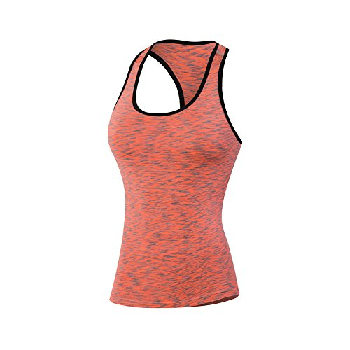onezi Stretch Compresión Camiseta De Tirantes de secado rápido camiseta Dry Fit de la mujer tight formación deportes Pro Fitness running yoga baloncesto red XXL