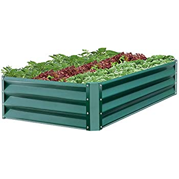 5x3x1ft FOYUEE Galvanized Raised Garden Beds for Vegetables Metal Planter Boxes Outdoor Large Patio Bed Kit Planting Herb