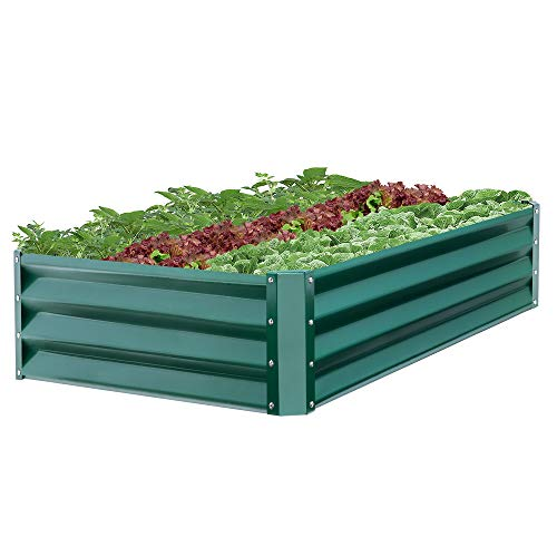 Best Choice Products 47x35.25x11in Outdoor Metal Raised Garden Bed for Vegetables, Flowers, Herbs, Plants - Green (Bed Base Raised)