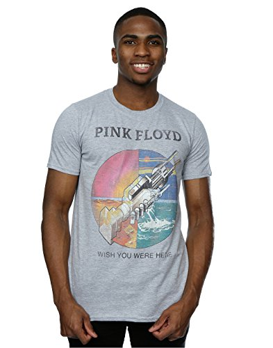 Pink Floyd Men's Wish You Were Here T-Shirt Large Heather Grey (A Wish T-shirt)