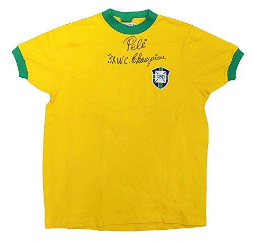 Pele Signed amp; Inscribed Jersey. PSA/DNA