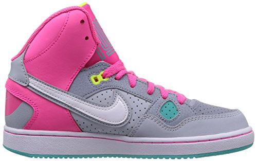 Nike Son Of Force Mid 616371 Mädchen High-Top Sneaker Mehrfarbig (Mgnt Gry/Wht-Hypr Pnk-Lt Mgnt)