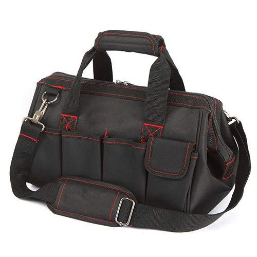 Robuste sac à outils imperméable à l'eau, 12 pouces large bouche voyage sacs hommes sac à bandoulière outil sacs grande capacité outil organisateur