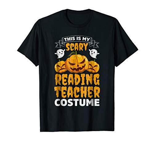 Scary Reading Teacher Costume Funny Halloween Shirt ()