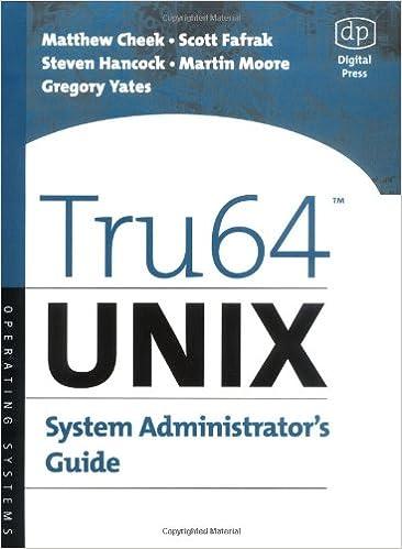 Tru64 UNIX System Administrator's Guide (HP Technologies) Book Pdf