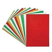 Baker Ross AW919 - Tarjeta de felicitación navideña (A4, 15 unidades), varios colores