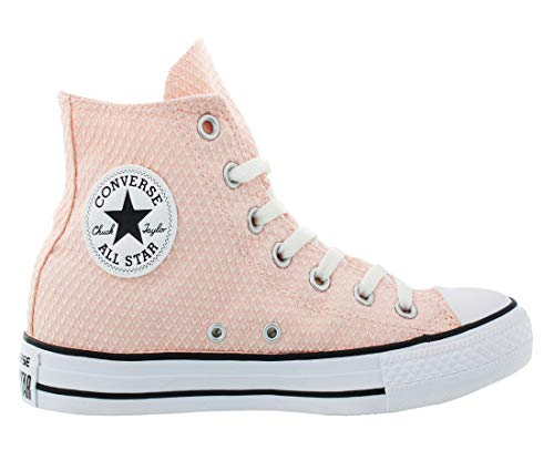 Color Uppers Canvas and Pink and Durable Sneakers in Star Top All Converse Chuck Vapor Taylor Unisex White Casual High Style Classic R4TqOa6