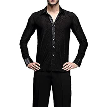 318bfbdc67558 Amazon.com: YILINFEIER Men Professional Black Noble Dark Stripe Long ...