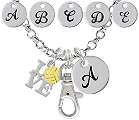 Silvertone Large Water Polo Ball Godmother You Are Loved Circle Bracelet 8