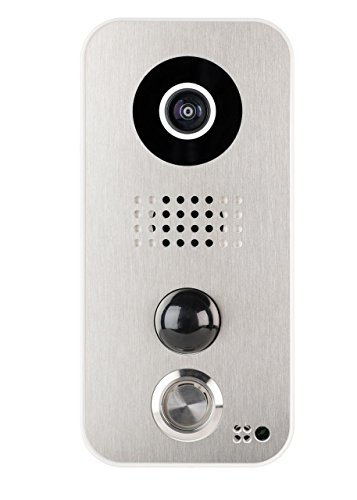 Door Station Stainless Steel Faceplate - Faceplate F101 for DoorBird Video Door Station D10x Series, Stainless-Steel Edition