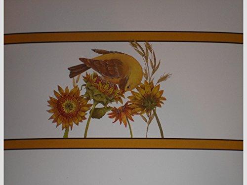 (Autumn Days Bird / Sunflowers (Glittered) Note Cards w/ Envelopes - Set of 8)
