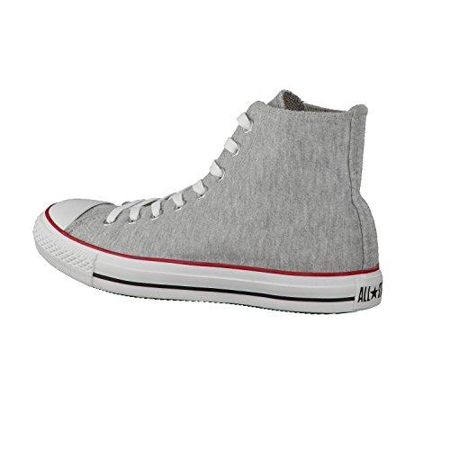 Converse AS HI SWEAT GRY/RD/BLK, Scarpe da ginnastica alte unisex adulto Grigio (Grey Black)