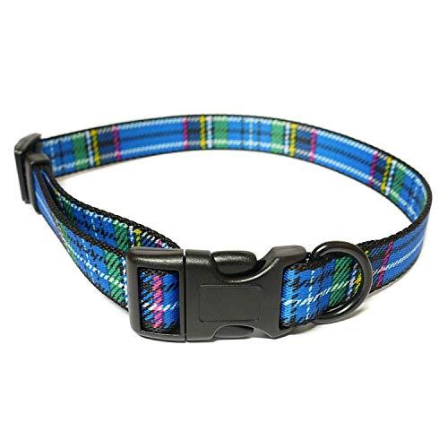 Ancol Tartan Collar Blue 30-50cm Size 2-5