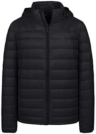 Wantdo Men's Winter Packable Lightweight Down Jacket Coat