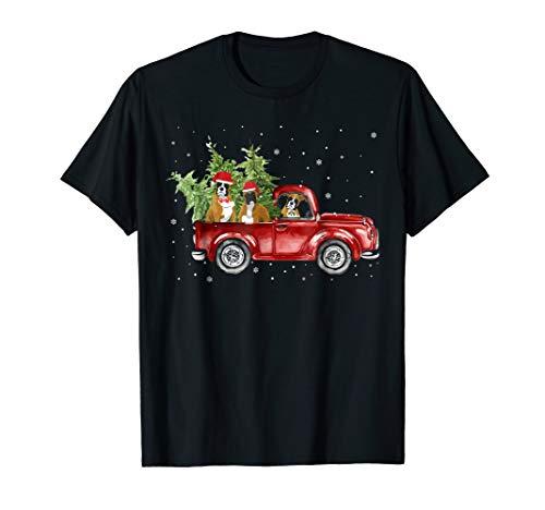 Boxer T-shirt Mens Dogs (Boxer Dog Pickup Truck Christmas Tshirt)