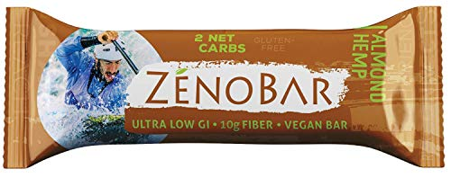 (ZenoBar Keto Low Carb Energy Bar, 1.6 oz (Almond Hemp, 12-Pack): Vegan, Whole Foods, Low Glycemic, Perfect for Keto, Diabetic, and High Fat Diets)