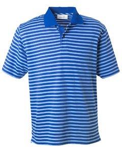 Ashworth Knit Shirt (Ashworth 2048 Men's Dual Tone Piquà Stripe Polo-Men's Pima PiquÃ)