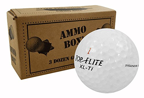 Top-Flite Surlyn Mix Mint Used Golf Balls3-Dozen