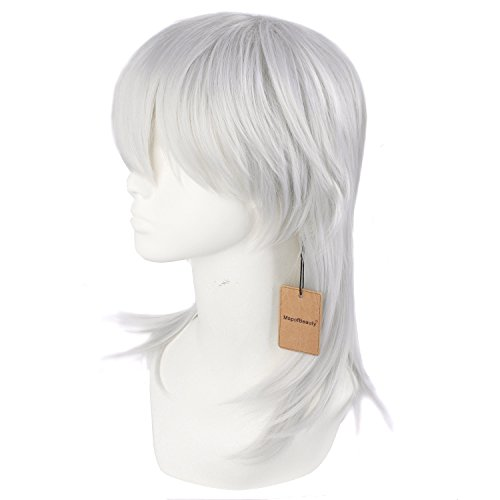 Mapofbeauty 20 Quot 50cm Mens In The Long Section Silver Gray