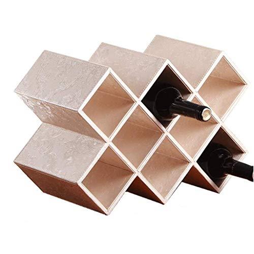 Stemware Racks Wine Rack Decoration Solid Wood Crocodile Pattern Home Creative Modern Minimalist Living Room Bottle Cabinet DecorativeMultiple Colors, 5 Grid, 8 Grid (Color : E, Size : 8 Gri (Pattern Crocodile Solid)