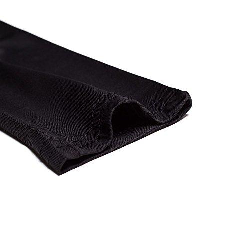 Beauty7 ES 32 Cuello V Profundo Atado con Zadera Vestido Largo Caliente Bodycon Estiramiento Verano Manga Larga Vestidos Vendajes Fiestas Partidos Negro Blanco Gris Rojo Negro
