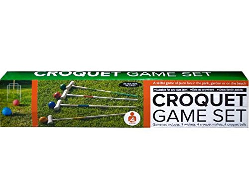 K&A Company Wooden Croquet Game Set Player Sports Vintage Backyard Set Case of 2 by K&A Company
