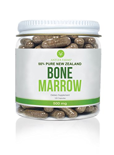 Antler Farms - 100% Pure New Zealand Bone Marrow, 120 Capsules, 500mg - Grass Fed, Pasture Raised, Cold Processed, Stem Cell Supplement, Keto Friendly, NO Hormones, NO Antibiotics, NO GMOs