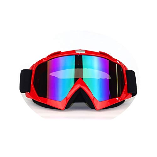 Adisaer Polarized Goggles Outdoor Riding Eye Protection Windproof ski Goggles Red Colorful for Unisex