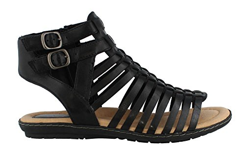 Earth Women's Sky Gladiator Sandal,Black Soft Leather,US 6 M (Sky Sandals 2 Womens)