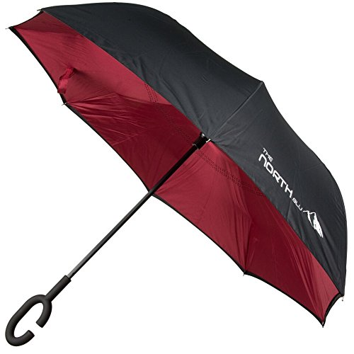Inverted Umbrella, Cars Reverse Umbrella, Elover Windproof UV Protection Big Inside Out Umbrella for Car Rain Outdoor with C-Shaped Handle and Carrying Bag Suprella (Rectangular Shaped Panels)
